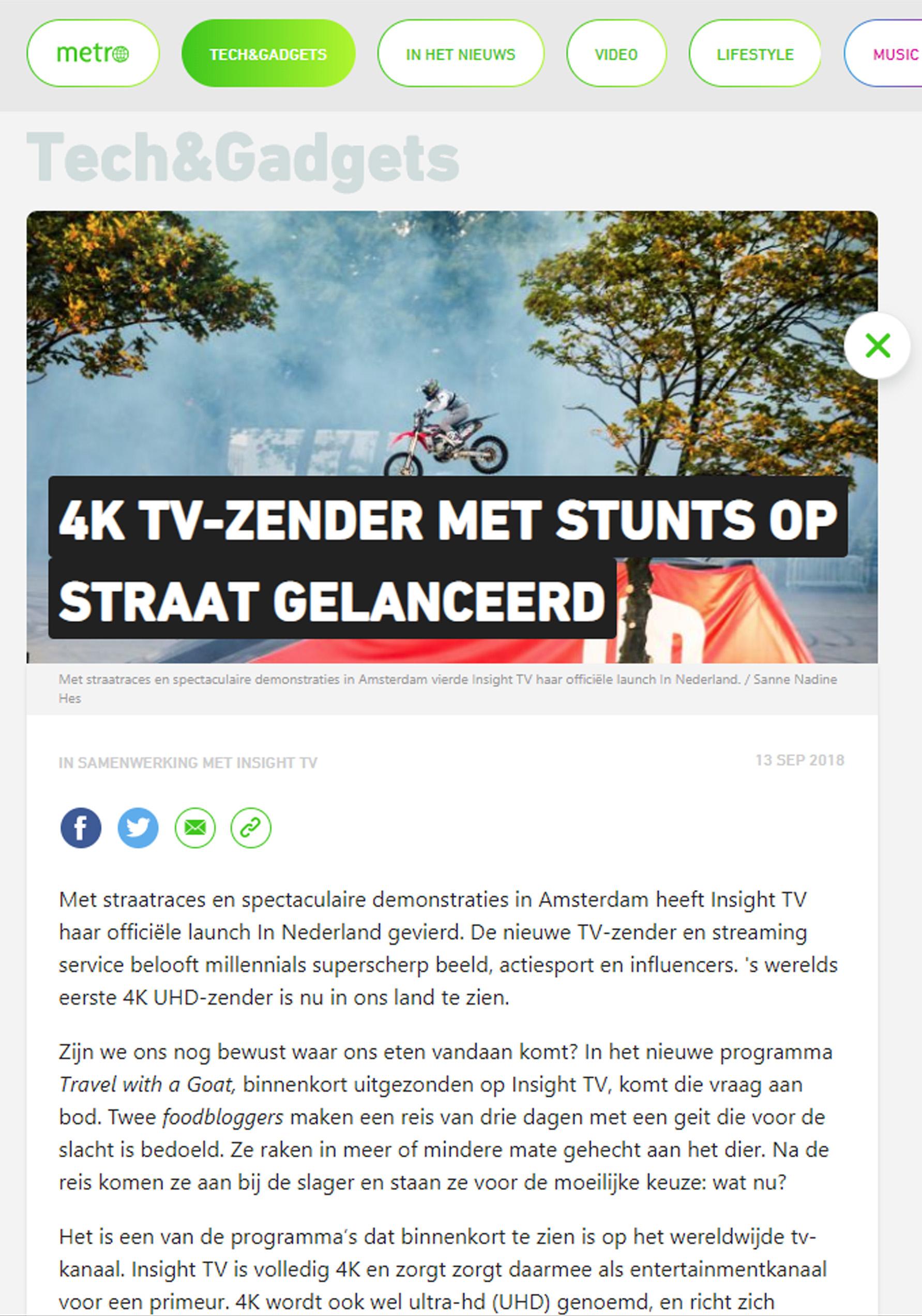 Metro Nieuws Online, Netherlands